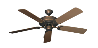 """Picture of Raindance Burnished Copper with 52"""" Outdoor Brown Blades"""