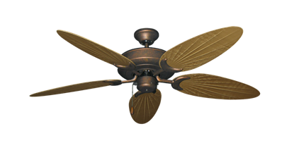 """Picture of Raindance Burnished Copper with 52"""" Outdoor Palm Walnut Blades"""