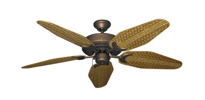 """Picture of Raindance Burnished Copper with 52"""" Outdoor Weave Walnut Blades"""