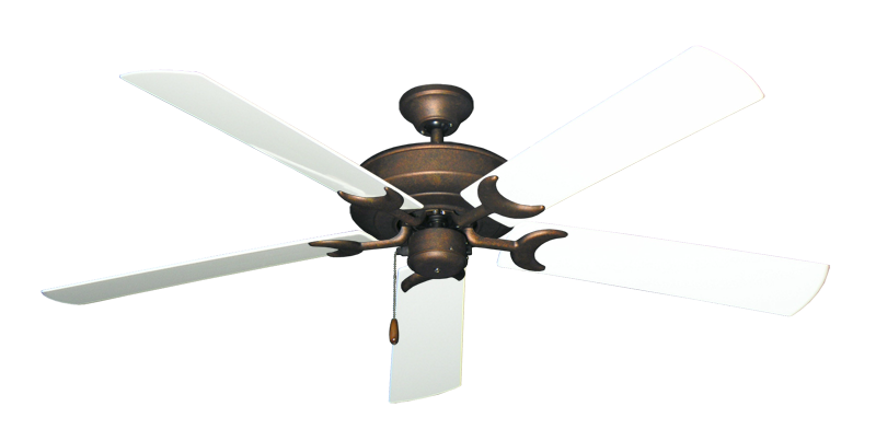 "Picture of Raindance Burnished Copper with 60"" Outdoor Pure White Blades"