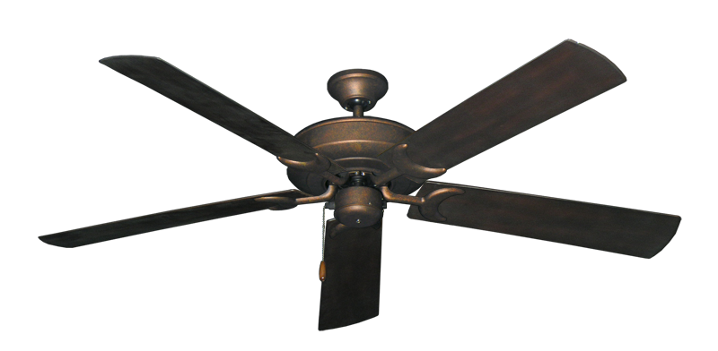 "Picture of Raindance Burnished Copper with 60"" Outdoor Oil Rubbed Bronze Blades"