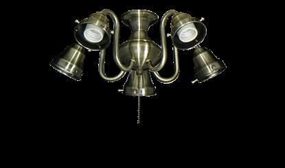 58 5-Light Swan Fitter (Glass Sold Separately)