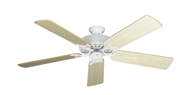"""Picture of Dixie Belle Pure White with 52"""" Bleached Oak Gloss Blades"""