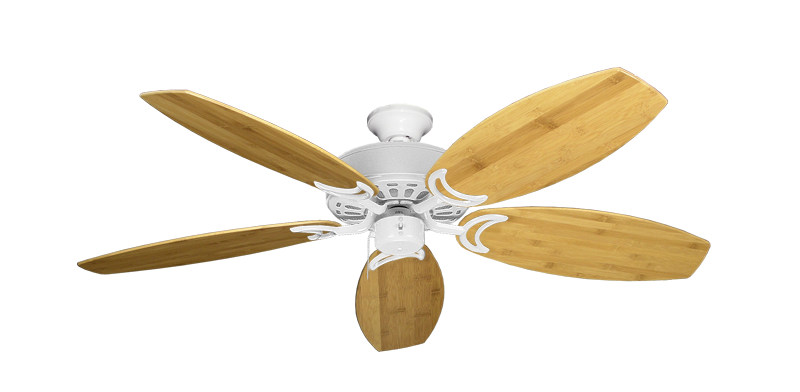 "Picture of Dixie Belle Pure White with 52"" Oar Bamboo Brown Blades"