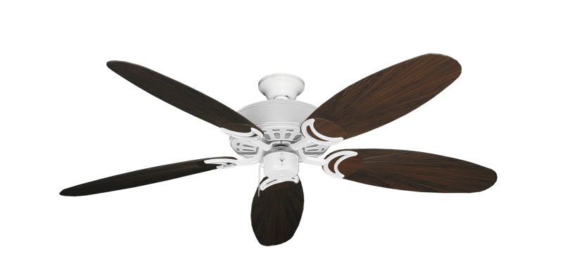 "Picture of Dixie Belle Pure White with 52"" Outdoor Leaf Oil Rubbed Bronze Blades"
