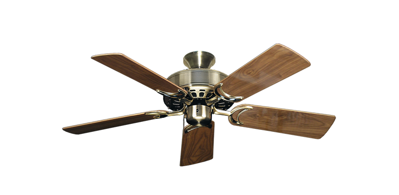 """Picture of Dixie Belle Antique Brass with 44"""" Walnut Gloss Blades"""
