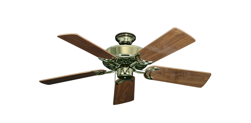 "Picture of Dixie Belle Bright Brass with 44"" Walnut Gloss Blades"