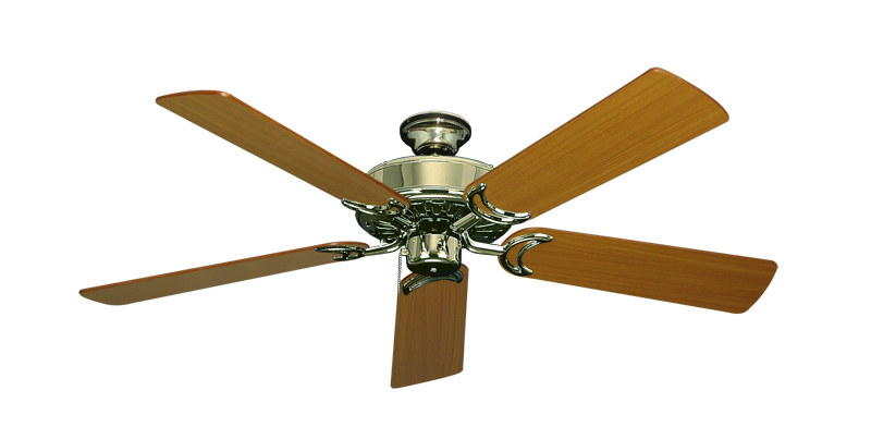 "Picture of Dixie Belle Bright Brass with 52"" Teak Blades"