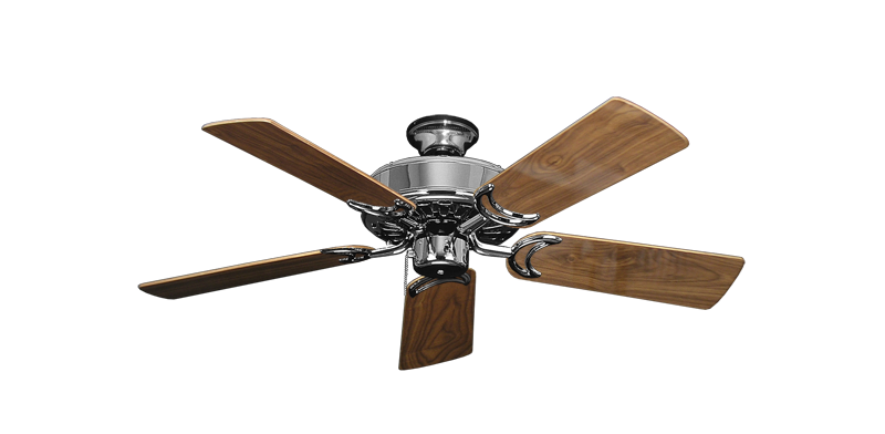 """Picture of Dixie Belle Chrome with 44"""" Walnut Gloss Blades"""