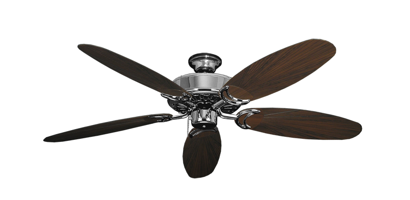 "Picture of Dixie Belle Chrome with 52"" Outdoor Leaf Oil Rubbed Bronze Blades"