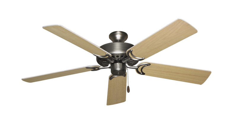 """Picture of Dixie Belle Satin Steel with 52"""" UnMotor Finished Oak Blades"""