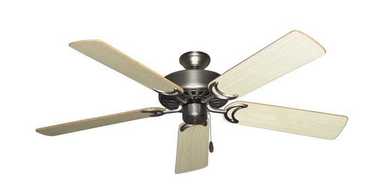 "Picture of Dixie Belle Satin Steel with 52"" Bleached Oak Gloss Blades"