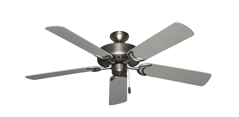 "Picture of Dixie Belle Satin Steel with 52"" Outdoor Brushed Nickel Blades"