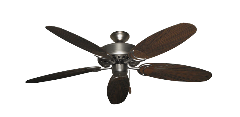 "Picture of Dixie Belle Satin Steel with 52"" Outdoor Leaf Oil Rubbed Bronze Blades"
