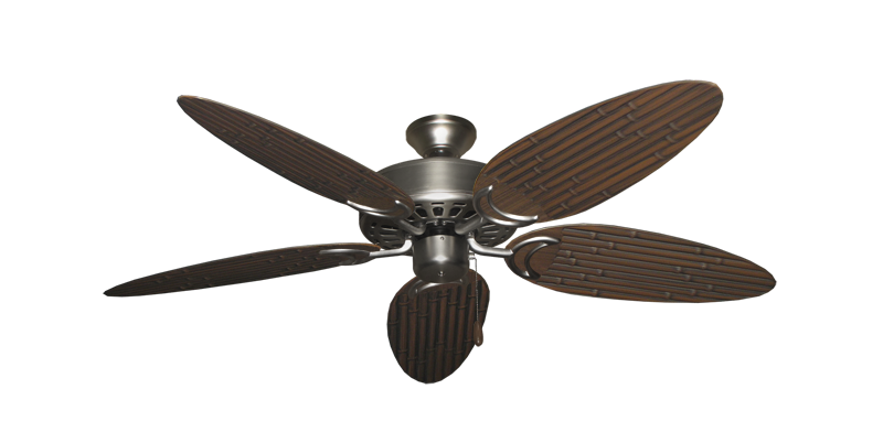 "Picture of Dixie Belle Satin Steel with 52"" Outdoor Bamboo Oil Rubbed Bronze Blades"