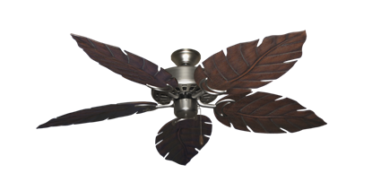 """Picture of Dixie Belle Satin Steel with 52"""" Venetian Oil Rubbed Bronze Blades"""