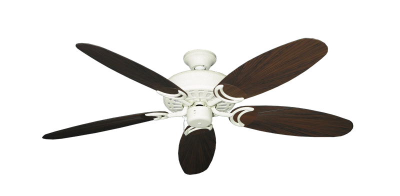 "Picture of Dixie Belle Navajo White with 52"" Outdoor Leaf Oil Rubbed Bronze Blades"