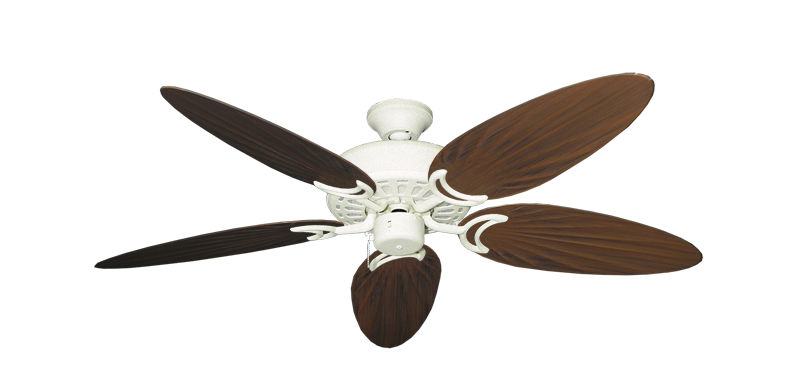 """Picture of Dixie Belle Navajo White with 52"""" Outdoor Palm Oil Rubbed Bronze Blades"""