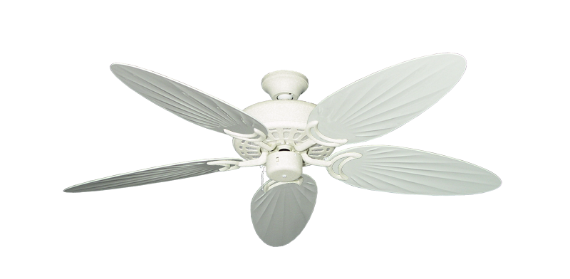 """Dixie Belle Navajo White with 52"""" Outdoor Palm Pure White Blades"""
