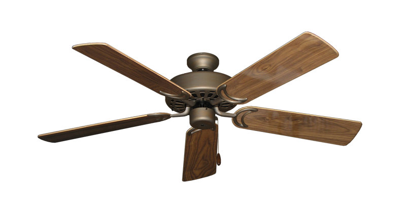 "Picture of Dixie Belle Antique Bronze with 52"" Walnut Gloss Blades"