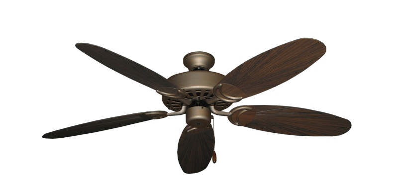 "Picture of Dixie Belle Antique Bronze with 52"" Outdoor Leaf Oil Rubbed Bronze Blades"