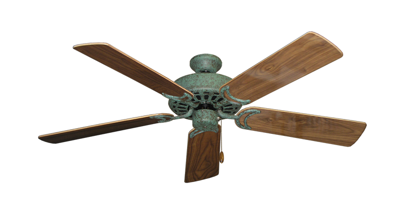 """Picture of Dixie Belle Verde Green with 52"""" Walnut Gloss Blades"""