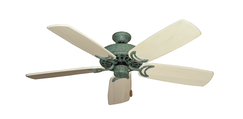 """Picture of Dixie Belle Verde Green with 52"""" Series 425 Arbor Whitewash Blades"""