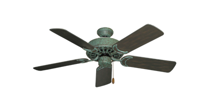 "Dixie Belle Verde Green with 44"" Outdoor Oil Rubbed Bronze Blades"