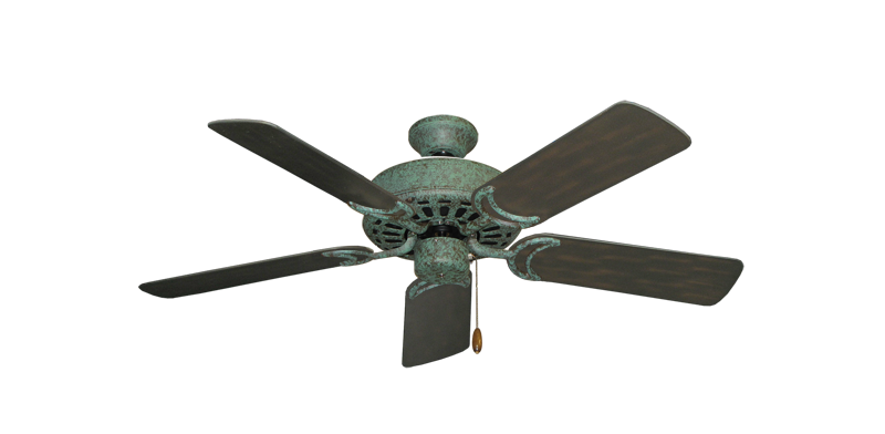 """Picture of Dixie Belle Verde Green with 44"""" Outdoor Oil Rubbed Bronze Blades"""
