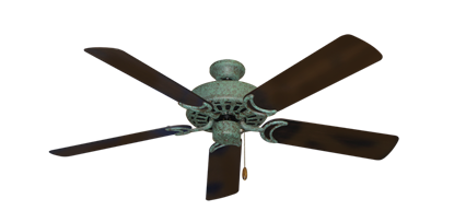 """Picture of Dixie Belle Verde Green with 52"""" Outdoor Oil Rubbed Bronze Blades"""