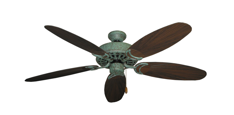 """Picture of Dixie Belle Verde Green with 52"""" Outdoor Leaf Oil Rubbed Bronze Blades"""