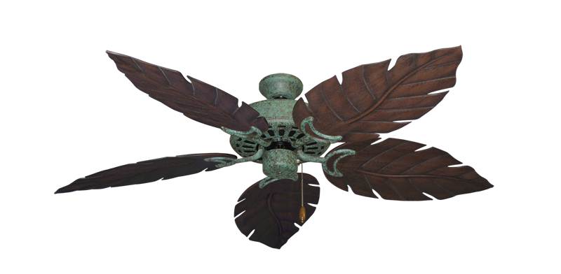 """Picture of Dixie Belle Verde Green with 52"""" Venetian Oil Rubbed Bronze Blades"""
