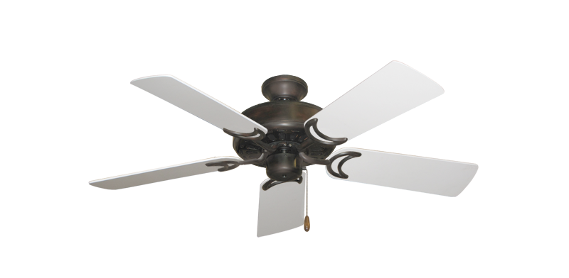 """Picture of Dixie Belle Oil Rubbed Bronze with 44"""" Pure White Blades"""