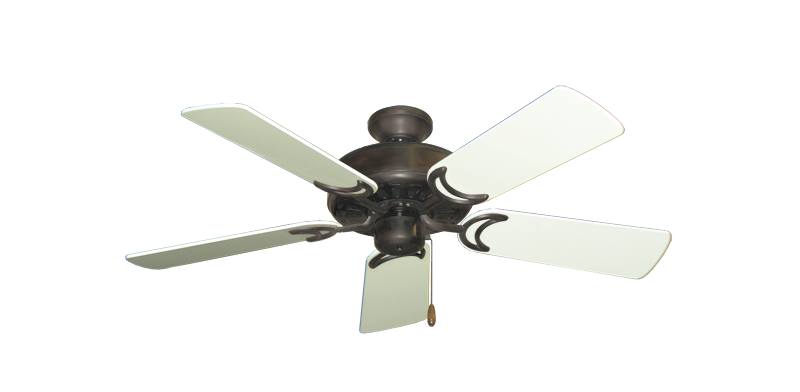 """Picture of Dixie Belle Oil Rubbed Bronze with 44"""" Antique White Gloss Blades"""