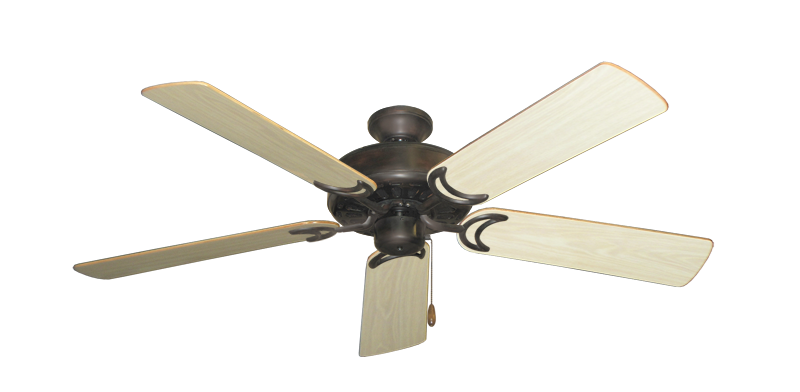 "Picture of Dixie Belle Oil Rubbed Bronze with 52"" Bleached Oak Gloss Blades"