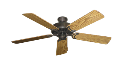 "Picture of Dixie Belle Oil Rubbed Bronze with 52"" Oak Gloss Blades"