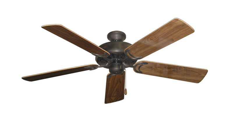 "Picture of Dixie Belle Oil Rubbed Bronze with 52"" Walnut Gloss Blades"