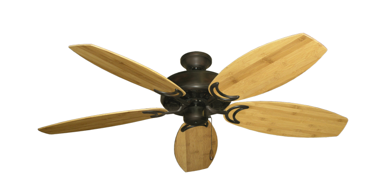 "Picture of Dixie Belle Oil Rubbed Bronze with 52"" Oar Bamboo Brown Blades"