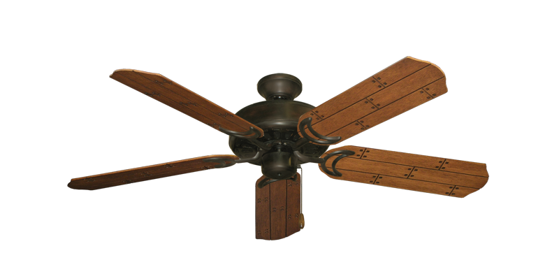 """Picture of Dixie Belle Oil Rubbed Bronze with 52"""" Cherry Plank Blades"""