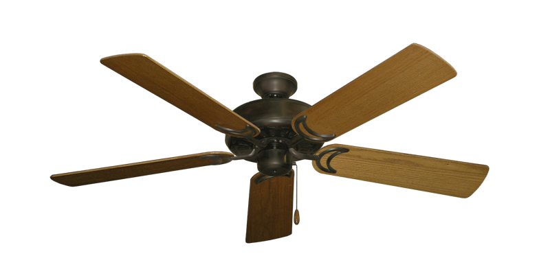 """Picture of Dixie Belle Oil Rubbed Bronze with 52"""" Light Oak Blades"""