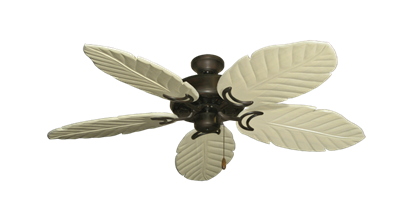 "Picture of Dixie Belle Oil Rubbed Bronze with 52"" Series 125 Arbor Whitewash Blades"