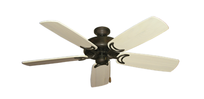 "Picture of Dixie Belle Oil Rubbed Bronze with 52"" Series 425 Arbor Whitewash Blades"