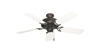 """Dixie Belle Oil Rubbed Bronze with 44"""" Outdoor Pure White Blades"""