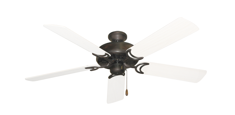 "Picture of Dixie Belle Oil Rubbed Bronze with 52"" Outdoor Pure White Blades"