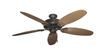 "Picture of Dixie Belle Oil Rubbed Bronze with 52"" Outdoor Leaf Tan Blades"
