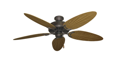 """Dixie Belle Oil Rubbed Bronze with 52"""" Outdoor Palm Walnut Blades"""
