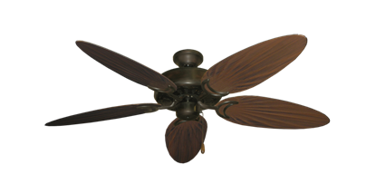 "Dixie Belle Oil Rubbed Bronze with 52"" Outdoor Palm Oil Rubbed Bronze Blades"