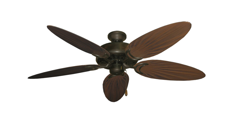 "Picture of Dixie Belle Oil Rubbed Bronze with 52"" Outdoor Palm Oil Rubbed Bronze Blades"