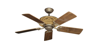 "Picture of Tiki Antique Bronze with 44"" Walnut Gloss Blades"