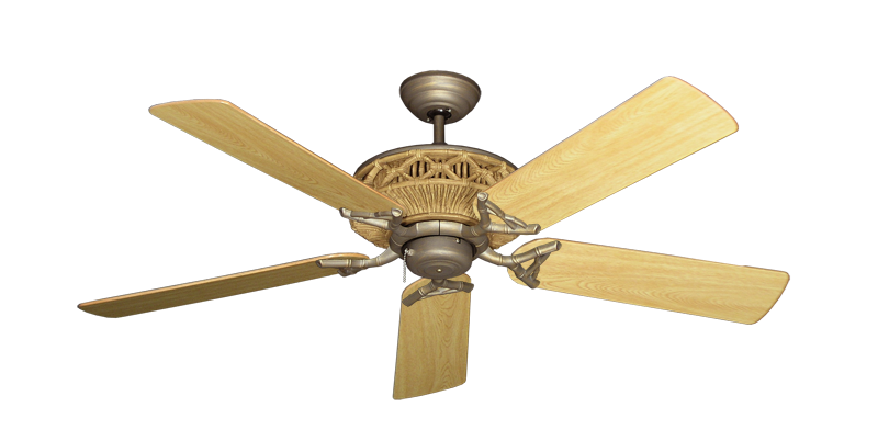 "Picture of Tiki Antique Bronze with 52"" Honey Oak Gloss Blades"